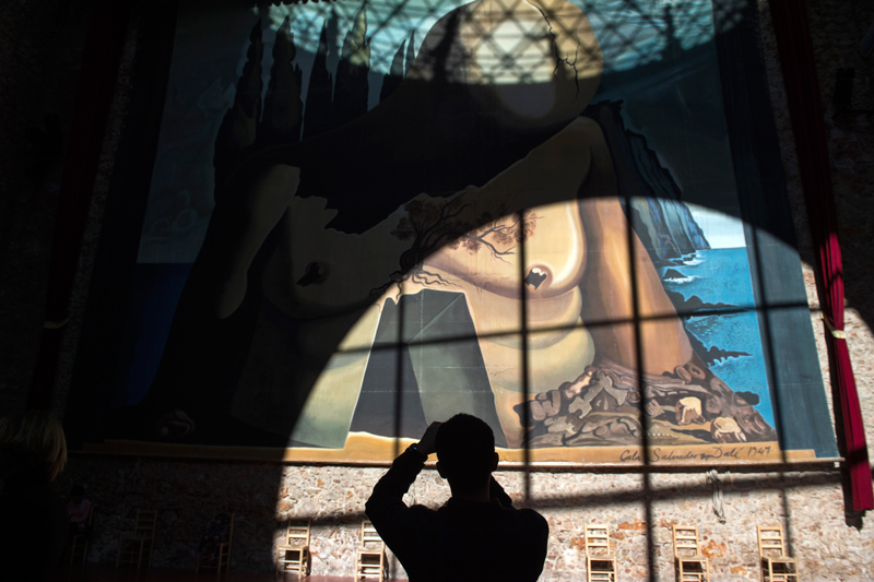 Una obra de Dalí en la Casa-Museo de Figueres. Álvaro Minguito