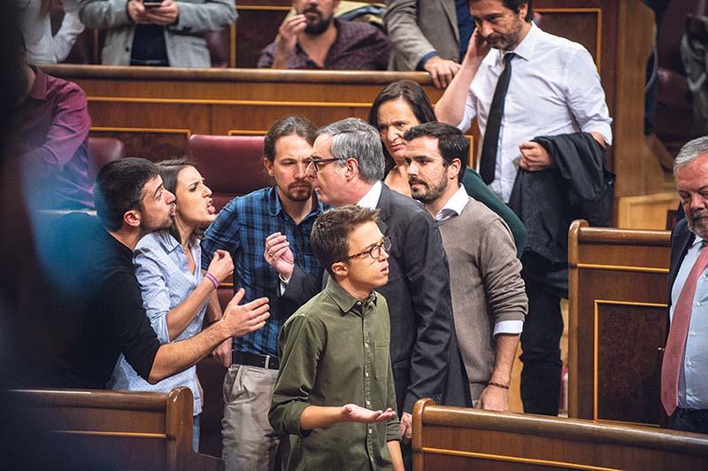 Acalorada discusión en el Congreso. DANI GAGO